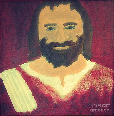 Jesus Christ Smiling 1 Art Print by Richard W Linford