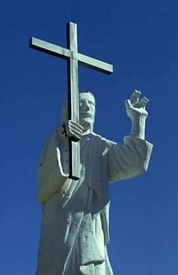 Jesus Photograph - Jesus Christ Statue by Retro Images Archive