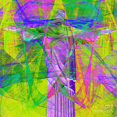 John 3 16 Photograph - Jesus Christ Superstar 20130617p32 Square by Wingsdomain Art and Photography