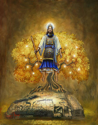 Painting - Jesus Christ The Great High Priest by Jeff Brimley