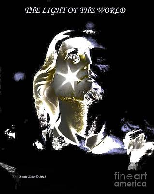 Digital Art - Jesus Christ The Light Of The World by Annie Zeno