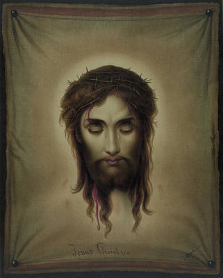 Painting - Jesus Christus Portrait By Martie Circa 1876 by George Pedro