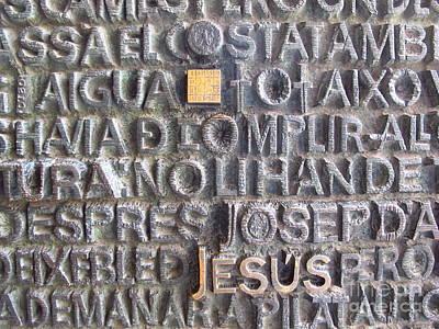 Relief Copper Art Photograph - Jesus En Barcelona by Luis Moya