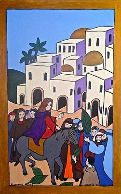 Painting - Jesus Going Into Jerusalem by Stephanie Moore