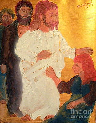 Omnipotence Painting - Jesus Healing The Sick 1 by Richard W Linford