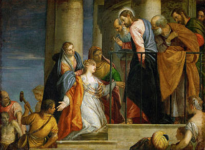 Healing Art Painting - Jesus Healing The Woman With The Issue Of Blood by Paolo Veronese