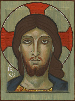 Egg Tempera Painting - Jesus Icon by James Morris