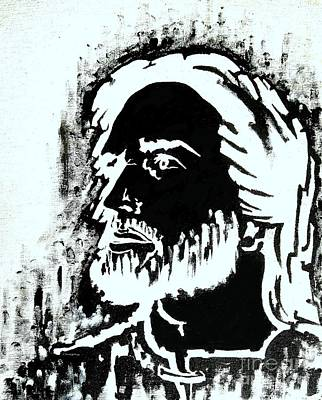 Painting - Jesus In Black And White by Greg Moores