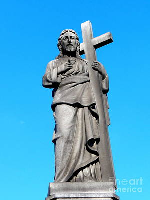 Photograph - Jesus In Blue Sky by Ed Weidman