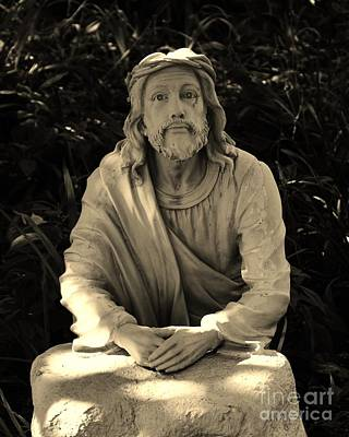 Jesus In The Garden Art Print by Bob Sample