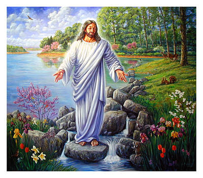 Painting - Jesus In The Ozarks by John Lautermilch