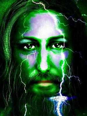 Jesus In The Storm Art Print by Daniel Janda