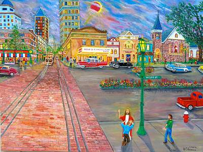 Painting - Jesus Is Coming To My City by Mike De Lorenzo