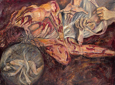 Painting - Jesus Is Stripped Of His Garments by Patricia Trudeau