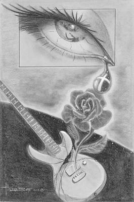 Tears Drawing - Jesus Is The Song Of Life by Hector E Soto