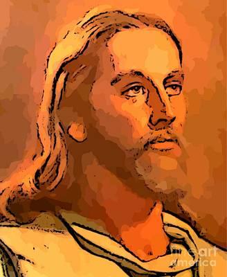 Christian Art . Devotional Art Painting - Jesus by John Malone