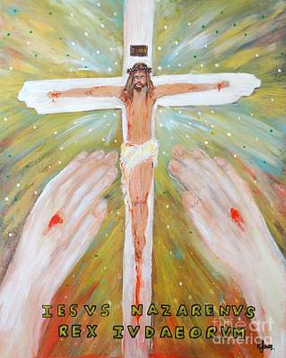 Painting - Jesus - King Of The Jews by Karen Jane Jones