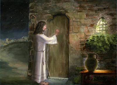Thomas Kinkade Royalty Free Images - Jesus Knocking at the Door Royalty-Free Image by Cecilia Brendel