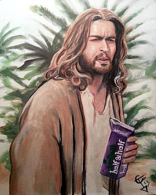 Jesus Lebowski Art Print by Tom Carlton