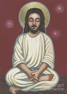 Meditating Painting - Jesus Listen And Pray 251 by William Hart McNichols