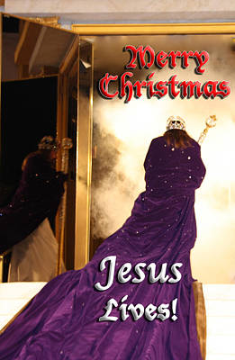 Photograph - Jesus Lives Christmas Card2 by Terry Wallace