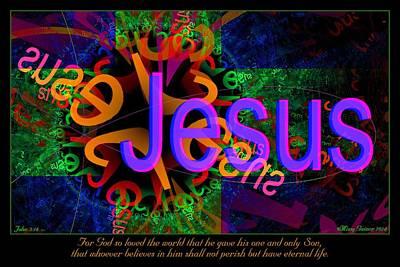 Digital Art - Jesus by Missy Gainer