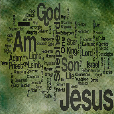 Jesus Name 1 Art Print by Angelina Vick
