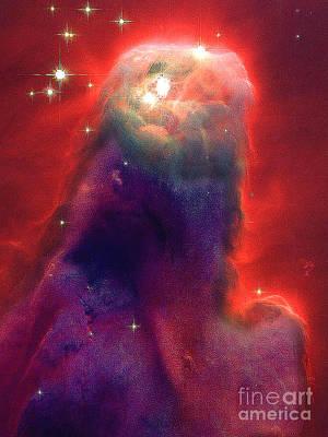 Photograph - Jesus Nebula From Nasa by Merton Allen