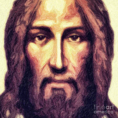 Jesus Face Digital Art - Jesus by Nishanth Gopinathan