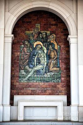 Photograph - Jesus Nos Bracos De Sua Mae by John Rizzuto