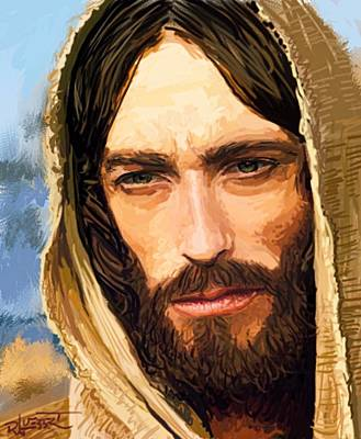 Digital Art - Jesus Of Nazareth Portrait by Dave Luebbert