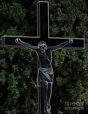 Photograph - Jesus On Cross by Steven Parker