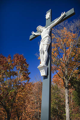Christian Sacred Photograph - Jesus On The Cross by Adam Romanowicz
