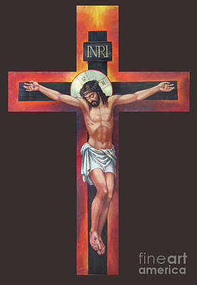 Jesus On The Cross Art Print by Zorina Baldescu