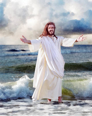 Digital Art - Jesus On The Sea by Francesa Miller