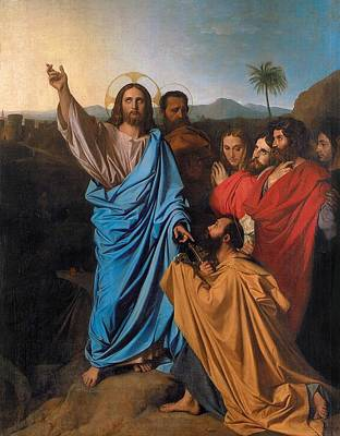 Jesus Returning The Keys To St. Peter Art Print by Jean-Auguste-Dominique Ingres