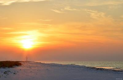 Photograph - Jesus Rising On Easter Morning On Navarre Beach by Jeff at JSJ Photography