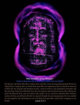 Jesus Mixed Media - Jesus - Shroud Of Turin by Mark Behrens