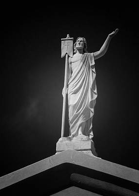 Statuary Photograph - Jesus St Louis Cemetery No 3 New Orleans by Christine Till