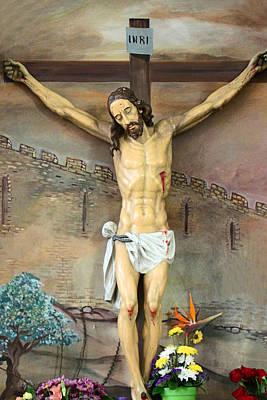 Jesus Statue At Latin Church In Taybeh Original