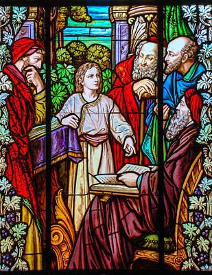 Photograph - Jesus Teaches In The Temple by Larry Ward