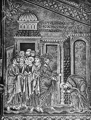 Jesus The Healer, 12th Century Art Print