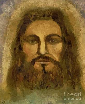 Pastel - Jesus The Shroud Of Turin by Lance Sheridan-Peel