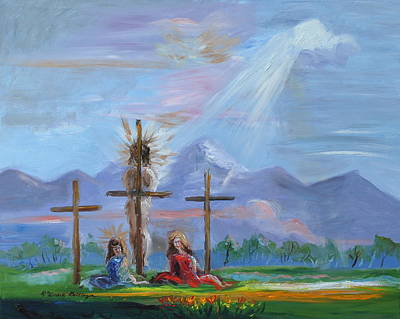 Palo Cedro Painting - Jesus Went Through Enough For Healing by Patricia Kimsey Bollinger