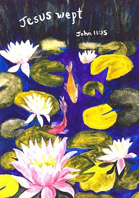 Saldana Painting - Jesus Wept by Catherine Saldana