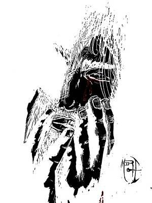 Jesus Wept  Invert Art Print by Justin Moore
