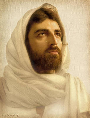 Jesus Face Digital Art - Jesus Wept by Ray Downing