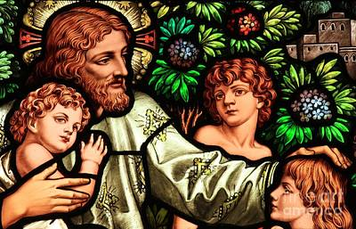 Christian Artwork Photograph - Jesus With Children by Adam Jewell