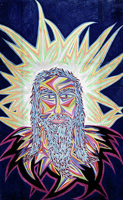 Painting - Jesus Year 2000 by Robert SORENSEN