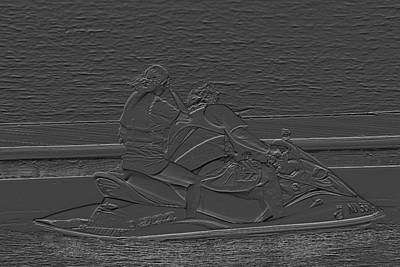 Photograph - Jet Ski In Cement by Mustafa Abdullah